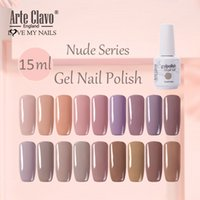 Arte Clavo 15ML Обнаженный цвет Гель для ногтей Польский полупомальный ультрафиолетовый Светодиодный гель Польский лак лак для ногтей Лучшее основание