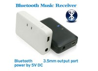 Receptor Bluetooth inalámbrico 3.5mm Audio Estéreo Música A2DP H166 para iPod iPhone MP3 MP4 PC Caja al por menor