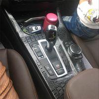 Auto-Styling Neue 3D / 5D-Kohlefaser-Auto-Innenraum-Center-Konsole-Farbwechsel-Formkleber-Abziehbilder für BMW X3 F25 x4 F26 2011-17