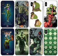 7s [TongTrade] The Avengers superhéroe Hulk Iron Man caso del iPhone para 8s 6s 5 Plus X XS 11 Pro Max Core Samsung 8262 Caso 5X Nexus honor 8S LG