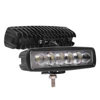16 인치 18W 8D 렌즈 LED 작업 표시 줄 IP68 방수 오프로드 트럭 SUV 스포트 라이트 운전 램프