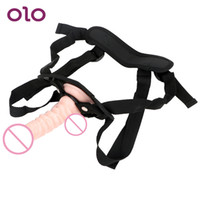 Olo Wear Penis Strap On Pants Lesbian Realistic Dildo With Suction Cup Super Soft Female Masturbator Sex Toy For Woman SH190801