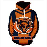 Herren Designer Pullover für Männer Sweatshirt Lovers 3D Chicago Bears Hoodies Coats Hoodies Tees Kleidung WP021