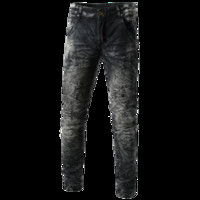 Fashion Men' s Printed Personality Wear Mens Black Jeans...