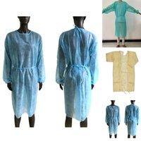 Robe protection non-tissé 3 couleurs de cuisine unisexe jetable tablier anti-poussière Robe de protection de cuisine Outils CCA12299 TRANSPORT MARITIME