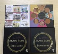 Hot 2 واجهت الكتاب الأسود الصغير من برونزرز Palette Bronzer Wardrobe Blush Cheek Highlighter Cosmestics Palette