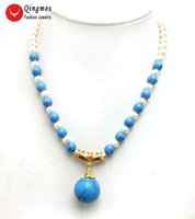 wholesale 6- 7mm White Round Natural Pearl Necklace for Women...