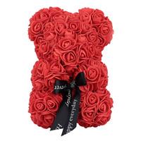 23 Cm Yaratıcı Köpük Güller Ayı Gül Çiçek Yapay Kadınlar Için Yeni Yıl Hediyeleri Sevgililer Hediye Doğum Günü hediye
