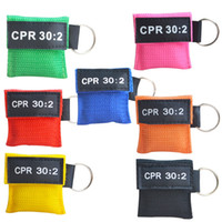 CPR Resuscitator Mask 30: 2 المتاح التدريب الإسعافات الأولية مهارة الوجه درع التنفس قناع الفم التنفس في اتجاه واحد صمام أداة