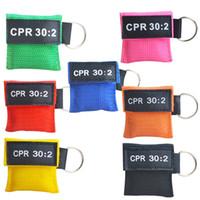 قناع الإنعاش المعونة CPR المتاح التنفس الأول Qtigh مهارة قناع التنفس وجه التدريب 30: 2 أداة في اتجاه واحد فم صمام درع hnqhw