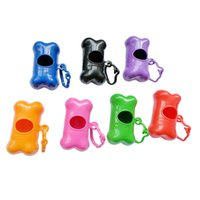 Forma de hueso Pet Dog Poop Bag Dispenser Bolsas de basura Portador Holder Dispenser Pet Waste Poop Bag Holder Dog Waste