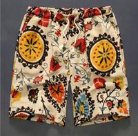 Hommes Shorts De Natation Pur Coton Lin Shorts De Natation Pour Hommes Beach Shorts SPA Maillot De Bain Pantalon De Plage Pantalon De Surf Court Short De Plage Maillots De Bain