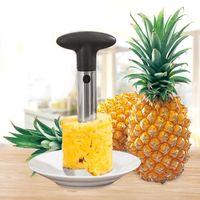 Rostfritt stål ananas peeler frukt corer slicer peeler stam remover cutter kök verktyg ananas kniv med OPP-paket CCA12186 30PCs