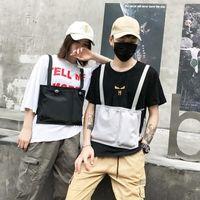 Moda Attrezzatura petto Sacchetto tattico cablaggio della maglia tasca frontale Holster Vest Hip Hop Via Funzione Shot nylon Petto Bag