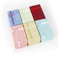 Gioielli gioielli regalo scatole anello Casi scatola di cartone Anello con imbottitura Contenitori di regali di carta per orecchino ad anello Pendenti Collane Perle