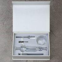 10/14 / 18mm Nettare Kit Collezionisti DAB Straw Smoke Oil Rigs Micro kit tubo di vetro tubo di vetro Titanio