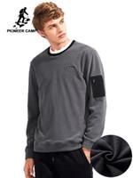 Зима сгущает флис кофты мужчины брендовая одежда простой теплый мужской толстовки высокое качество спортивный костюм AWY701351