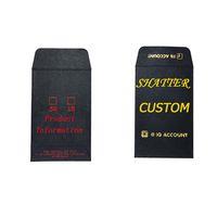 OEM Boîte d'emballage Enveloppes noir Shatter personnalisé Logo concentré papier monnaie carton Enveloppes comestibles Logo Impression feuille d'or