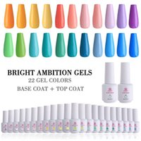Makartt 24pcs polaco Establece LED UV Gel Esmalte de uñas Kit de 8 ml 22 La ambición brillante color de uñas de Gel Base