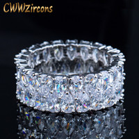CWWZircons Super Sparkling de prata cor completa Cubic Zirconia pavimentadas Rodada CZ casamento anéis de noivado Jóias para as mulheres R086