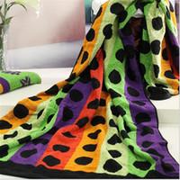منشفة من القطن الصيف نمط جديد 100 ٪ من القطن منشفة حمام منشفة الشاطئ مجموعة كبيرة ومتنوعة من الألوان الزاهية 75 * 150CM