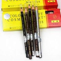 lápis de sobrancelha Atacado multi-cor da linha puxar com lápis de sobrancelha linha de puxar 1.818 puxar impermeável linha da sobrancelha