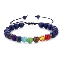 8MM Natural Stone Bracelets Beads Hand String Adjustable Ene...