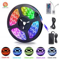 5M 300LEDs Non-водоустойчивый RGB Светодиодная лента 3528 DC12V 60LEDs / M Гибкая освещения Строка ленты Tape лампы Домашнее украшение свет