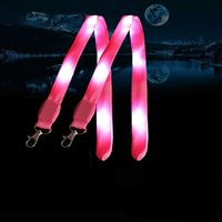 Luminous Lanyard LED Flash do cartão Trabalho Luz Cordas de nylon de cor Safety Alert Moda Hot Sale 6zsa UU
