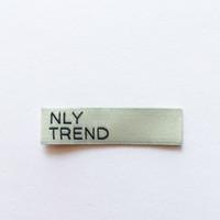 Halsetikett Gewebtes Etikett für Kleidung Benutzerdefinierte 250 stücke Maßgeschneiderte Bekleidungsaufkleber Rosa und weiß Ultraschallgeschnittene Etikett für Tücher