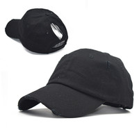 순수한면 구멍 야구 모자 포니 테일 패션 조수는 처마가 봄과 여름 여성 야외 스포츠 태양 모자 캡 곡선