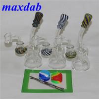 6,3 Zoll Bong-Becher-Hukahn-Glas-Wasser-Rohre Bongs Bubbler Gerade Röhrchen-Kopf-Pyrex-Kräuter-Schüssel DAB-Rig-Öl-Rigs-Quarz Banger