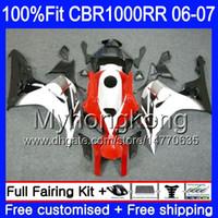 Iniezione Corpo + Serbatoio Per HONDA CBR1000 RR CBR 1000 RR 2006 2007 bianco lucido caldo 276HM.41 CBR 1000RR 06-07 CBR1000RR 06 07 Kit carenature OEM