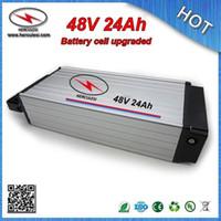 48 вольтовый литиевый аккумулятор 24ah для электрического велосипеда встроенный в 3.7 V 3000mah 18650 cell алюминиевый корпус 48V 13S 30 Amp BMS