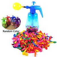 Портативный воздушный водяной бомба воздушный шар насос с 500 шт воздушные шары для детей партии открытый игрушки воздушные шары (насос и воздушные шары случайный цвет)
