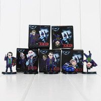 5 pezzi / set Batman The Dark Knight The Joker Mini Action PVC Figure Giocattoli per bambini Collezione di bambole regalo con scatole da 3,5-6 cm