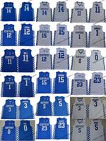 2019 Kentucky Wildcats 14 Tyler Herro 5 Monk 3 Adebayo 0 Fox Devin Booker 11 John Wall 12 Kasabalar 15 Kuzenler Davis Koleji Basketbol Forması