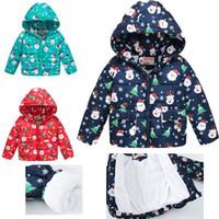 크리스마스 아이 겨울 코트 아기 방한복 여자 꽃 겨울 착실히 보내다 의상 후드 의류 어린이 패딩 재킷 90-130 D083C