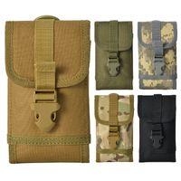 5 estilos al aire libre tácticas bolsa de colgar camuflaje bolsas de teléfono móvil bolsillo de bolsillo cintura pequeña bolsa de cinturones de bolsos FFA2906
