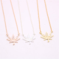 New Plant shape pendant necklace Maple leaf pendant necklace...