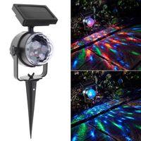 Lampe à rotation solaire RGB Crystal Magic Ball Disco Stage Partie de Noël Partie de Noël Jardin de jardin Laser Laser Lumière Laser