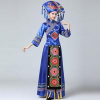 Kadın Moğol Giyim Sahne Performansı Dans Etek Elbise Kız Moğol Dans Kostümleri Çocuk Azınlık Tibet Aşınma
