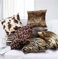 modello animale cuscino cuscino caso del leopardo copre Piazza molle eccellente Gettare Federe Cuscino per Bench Couch Sofa YSY7Q