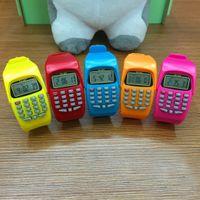 LED 시계 기능을 가진 패션 디지털 계산기 어린이를위한 캐주얼 실리콘 스포츠 어린이 다기능 계산