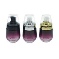 30 ml / 1 oz Gül Cam Kozmetik Kavanoz Seyahat Şişeleri Özü Şampuanı Preslenmiş Pompa için Boş Kozmetik Kapları Dağıtıcı