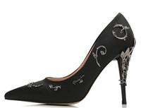 웨딩 저녁 파티 댄스 파티 신발 2020 새로운 핑크 / 골드 / 와인 레드 편안한 디자이너 웨딩 신부 신발 실크 에덴 발 뒤꿈치 신발