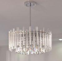Роскошные светодиодные хрустальные люстры стеклянная трубка подвесные светильники для гостиной Спальня декор E14 внутреннее освещение