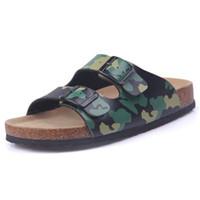 Yeni Yaz Man Flats Plaj Valentine Mantar Terlik Sandalet Casual Çift Toka Slaytlar Erkekler Ayaklı Ayakkabı Artı boyutu 35-45 Floplar