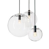 Rope Luci del pendente Globe Chrome Glass Ball Hanglamp Luster Sospensione luci della cucina dispositivo domestico appendere le luci E27
