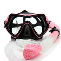 전체 드라이 잠수 마스크를 장착 다이빙 유리 호흡기 튜브 세트 잠수정 삼보